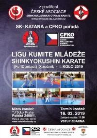 Liga kumite Shinkyokushin karate 1. kolo 16. 3. 2018 Praha