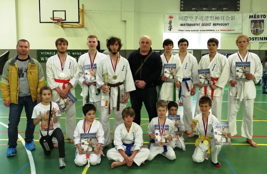 Výsledky MČR Kyokushin Karate 27. 4. 2019 v Hostinné